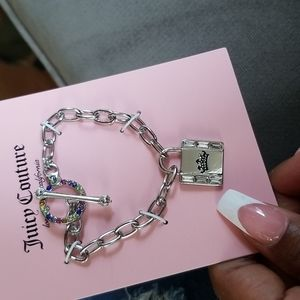 Juicy Couture silver tone with lock charm Bracelet